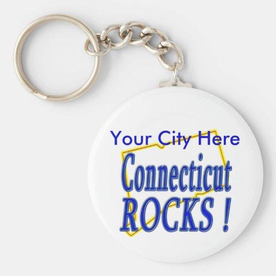 Connecticut Rocks ! Keychain