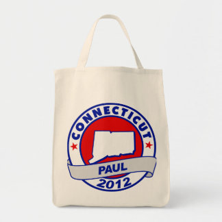 Connecticut Ron Paul Tote Bags