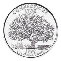 Connecticut Round Sticker