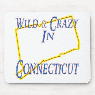 Connecticut - salvaje y loco alfombrilla de raton