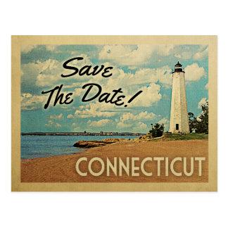 Connecticut Save The Date Vintage Postcards