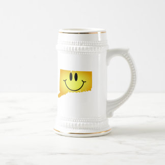 Connecticut Smiley Face 18 Oz Beer Stein