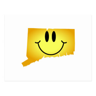 Connecticut Smiley Face Postcard