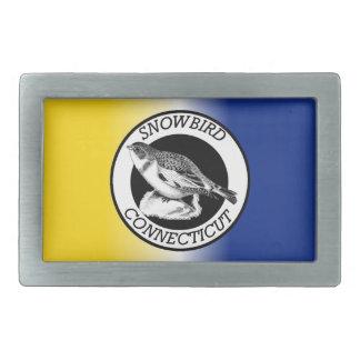Connecticut Snowbird Shield Rectangular Belt Buckle