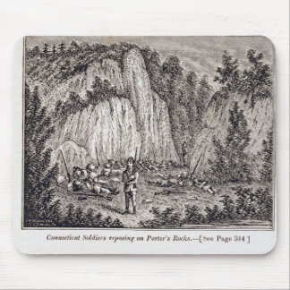 Connecticut Soldiers Reposing on Porter's Rock Mouse Pad