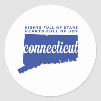 connecticut | song lyrics | blue classic round sticker