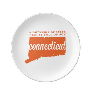 connecticut | song lyrics | orange porcelain plate
