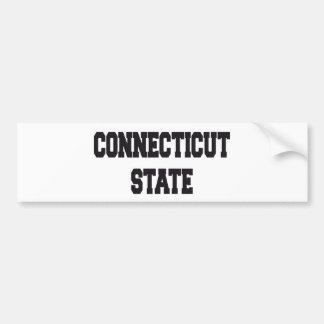Connecticut state bumper sticker