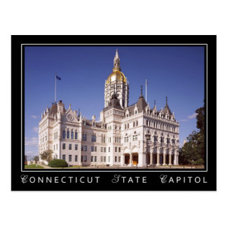 Connecticut State Capitol building in Hartford Postcard