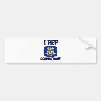 Connecticut state designs bumper sticker