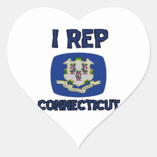 Connecticut state designs sticker