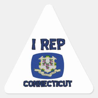 Connecticut state designs triangle sticker