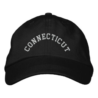 Connecticut State Embroidered Embroidered Baseball Hat