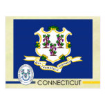 Connecticut State Flag and Seal Postcard