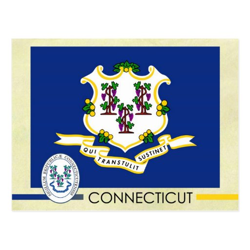 Connecticut State Flag and Seal Post Cards