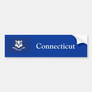 Connecticut State Flag, Car Bumper Sticker