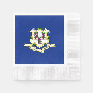Connecticut State Flag Design Paper Napkin