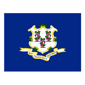 Connecticut State Flag Design Postcard