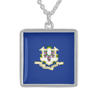 Connecticut State Flag Design Sterling Silver Necklace