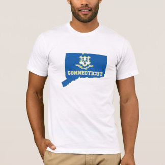 Connecticut State Flag Map T-Shirt