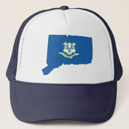 Connecticut State Flag Map Trucker Hat