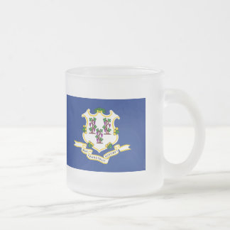 Connecticut State Flag.png Frosted Glass Coffee Mug