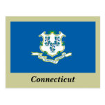 Connecticut State Flag Postcard