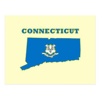 Connecticut State Flag Postcard