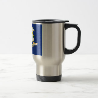 Connecticut State Flag Travel Mug