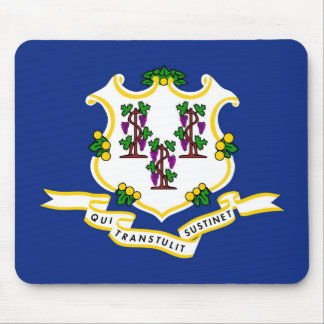 Connecticut state flag usa united america symbol mouse pad