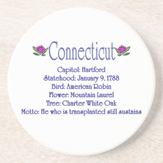 Connecticut State Info Coaster