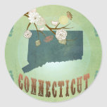 Connecticut State Map – Green Sticker