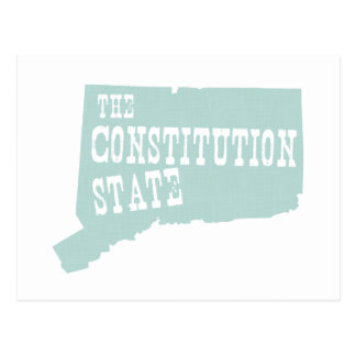 Connecticut State Motto Slogan Postcard