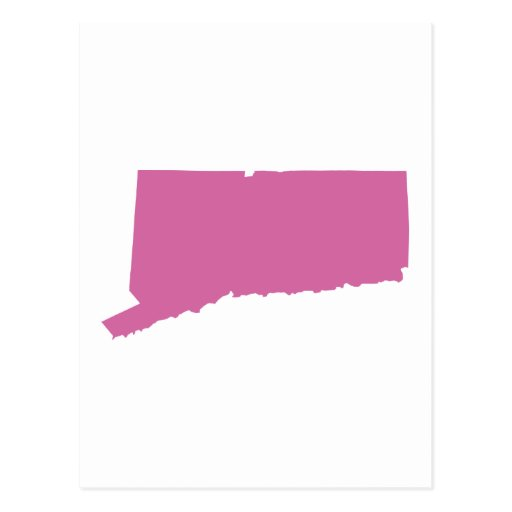 Connecticut State Outline Postcard