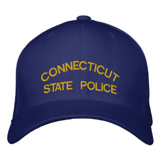 CONNECTICUT, STATE POLICE EMBROIDERED BASEBALL HAT