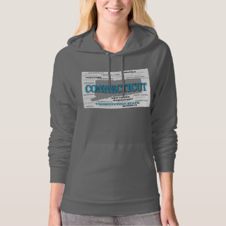 Connecticut State Pride Map Silhouette Hoodie