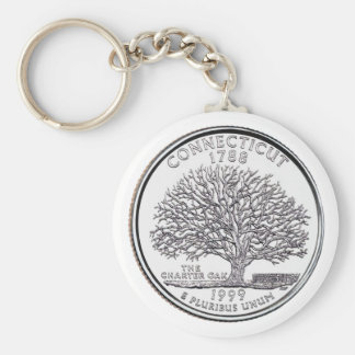 Connecticut State Quarter Keychain