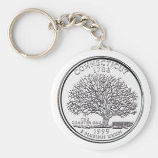 Connecticut State Quarter Keychain