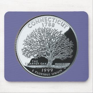 Connecticut State Quarter Mouse Pad