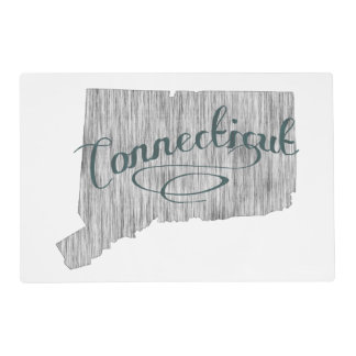 Connecticut State Typography Placemat
