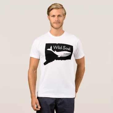 USA Themed Connecticut State Whale tshirt