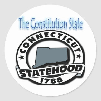 Connecticut Statehood 1788 Classic Round Sticker