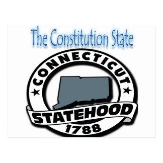 Connecticut Statehood 1788 Postcard