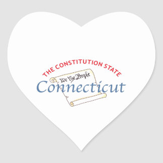 Connecticut Heart Stickers