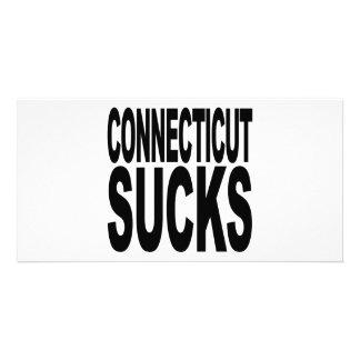 Connecticut Sucks Customized Photo Card