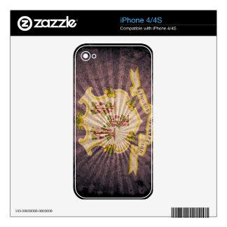 Connecticut sunburst flag souvenir skins for the iPhone 4S