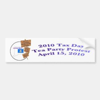 Connecticut Tax Day Tea Party Bumper Sticker