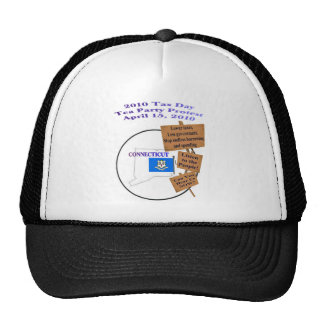 Connecticut Tax Day Tea Party Protest Baseball Cap Trucker Hat
