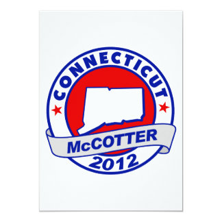 "Connecticut Thad McCotter 5"" X 7"" Invitation Card"