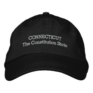 Connecticut The Constitution State Embroidered Baseball Hat